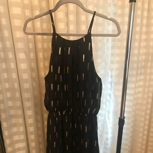 Collective Concepts Black With Gold Accent Dress